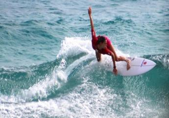 Barbadian surfer, Chelsea Tauch.