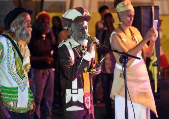 Reggae legend Bunny Wailer performs at 'Rootsman Skanking' in November. (PHOTOS: Marlon Reid)