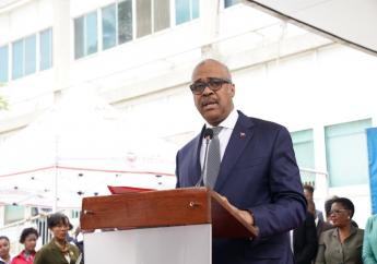 Le premier Ministre Jack Guy Lafontant en prélude à la Conférence des Chefs d'Etat et de Gouvernement de la CARICOM, 24 février dernier./ Photo : Jack Guy Lafontant (Twitter)