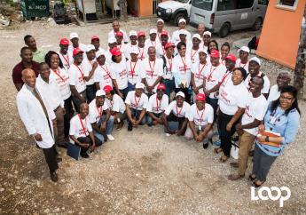 La première cohorte de bénéficiaires de Konbit pou chanjman / Photo crédit: Loop Haiti