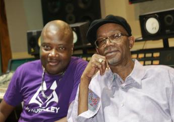 Kurt Riley (left) Beres Hammond