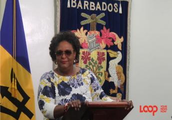 Prime Minister Mia Mottley at her first press conference as Barbados' leader.
