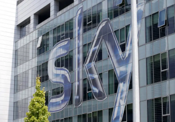 FILE - This Friday, July 25, 2014, file photo shows a view of the headquarters of the Italian Sky television broadcaster in Milan, Italy. (AP Photo/Luca Bruno, File)