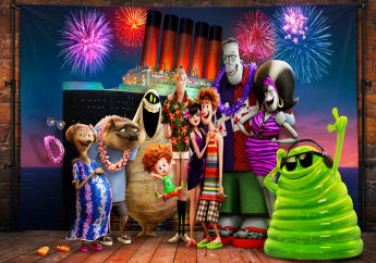 """This image released by Sony Pictures Animation shows a scene from """"Hotel Transylvania 3: Summer Vacation."""" (Sony Pictures Animation via AP)"""