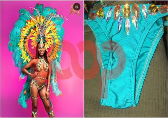 Erup advertised costume on the left; costume received by a customer on the right.