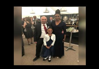 Jamaican Dawna Munroe (right) along with her Italian husband Cristian Cecal (left) and daughter Crystal were killed when a  bridge they were driving across collapsed in Genoa, Italy.