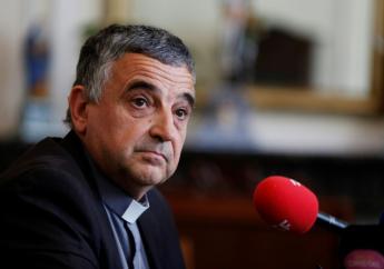 L'archevêque de Rouen Dominique Lebrun, lors d'une conférence de presse à Rouen le 20 septembre 2018