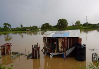 Flooding captured in Penal on June 21, 2017.