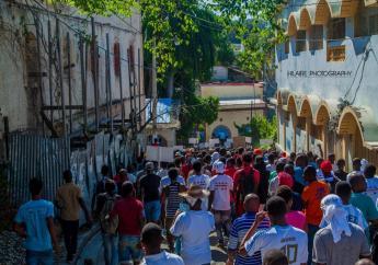 Jacmel, mardi 20 novembre, lors d'une manifestation spontanée.  Photo: Loop