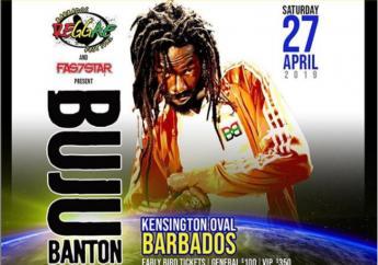 Buju Banton 'Long walk to Freedom' Tour flyer for Barbados.