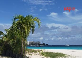 Browne's Beach, Carlisle Bay in Barbados.