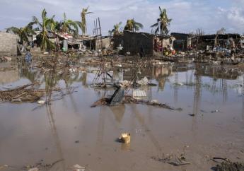 Un quartier de Beira, au Mozambique, sous les eaux après le passage du cyclone Idai, le 23 mars 2019