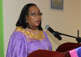 St. Lucia Industrial and Small Business Association President Flavia Cherry