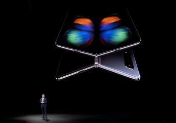 Samsung présente son modèle pliable Galaxy Fold à San Francisco, le 20 février 2019