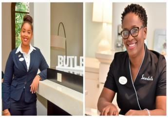 (left) Melanie Arthur has been promoted to Assistant Butler and Stacia Brathwaite (right) has joined the team as Public Relations Coordinator.
