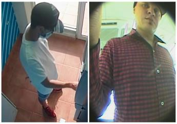 The two suspects in the recent spate of ATM attacks.
