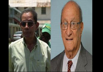 The PSOJ extended sympathies to the family, friends and colleagues off former Industry and Commerce Minister Douglas Vaz  (left) and former Chief Justice of Jamaica Sir Edward Zacca (right)