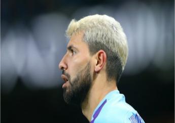 Manchester City striker Sergio Aguero.