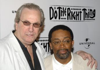 """In this June 29, 2009 file photo, Director Spike Lee, right, and actor Danny Aiello attend a special 20th anniversary screening of """"Do the Right Thing"""", in New York. (Photo: AP)"""