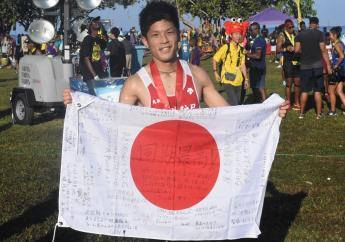 Daichi Hosoda from Japan, who won the men's section of Reggae Marathon 2019 in Negril, Westmoreland on Sunday morning. (Photos: Marlon Reid)