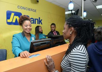 JN Bank is now   staggering the number people entering the branches during opening hours, to provide room for physical distancing in the banking halls.  (File photo)