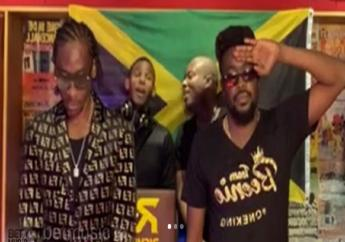 Screen grab of IG Live showing Bounty Killer and Beenie Man performing in the latest installment of the Verzuz series of online battles.