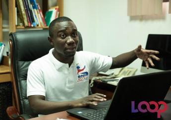 Dangelo Néard, Directeur général de la Bibliothèque Nationale d'Haïti, en tête à tête avec Loop Haïti, le mardi 4 août 2020/ Photo: Luckenson Jean & Odelyn Jospeh