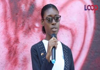 """La jeune ambassadrice du Canada en Haïti """"interpelle sur le cyber-harcèlement""""/ Capture d'écran et vidéo: Luckenson Jean"""