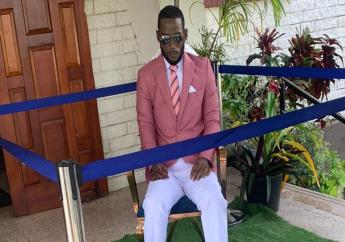 The body of Che Lewis displayed at his funeral on Wednesday. Dennie's Funeral home is intent on shaking up the funeral industry in T&T. Photo courtesy Dennie's Funeral home.