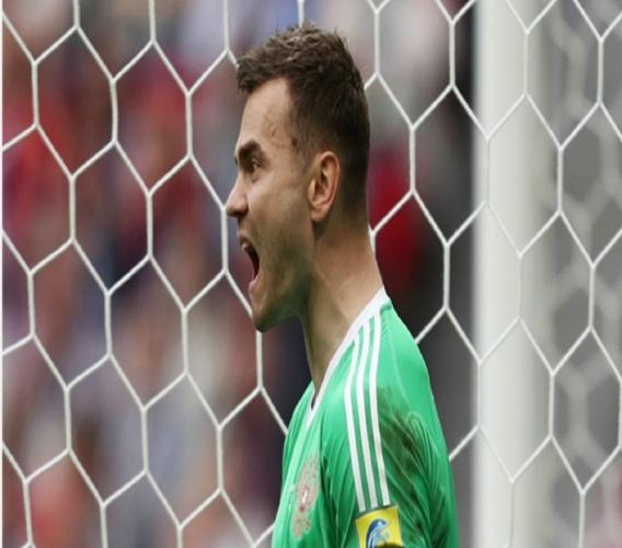 Russia goalkeeper Igor Akinfeev during a Confederations Cup game against Mexico.