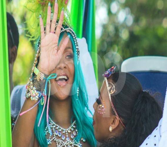 Barbadian superstar Rihanna at Grand Kadooment 2017.
