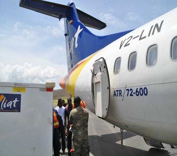 LIAT says the flight is part of their commitment to assist islands throughout the Caribbean, which have been affected by hurricanes.