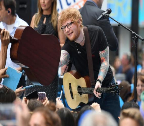 AFP/Archives / ANGELA WEISS Le chanteur britannique Ed Sheeran, le 6 juillet 2017 à New York