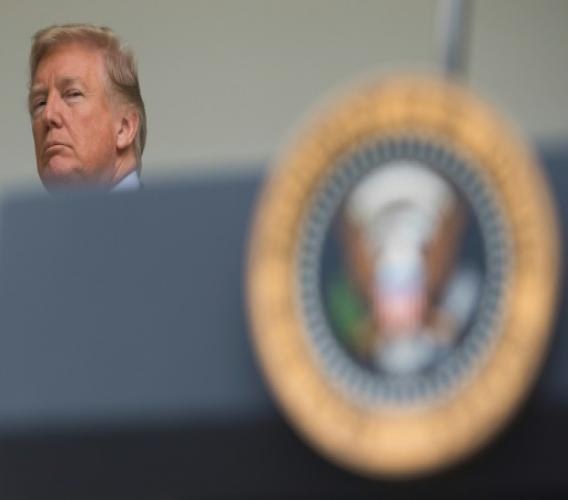 AFP / SAUL LOEB Le président américain Donald Trump, le 16 octobre 2017 à Washington