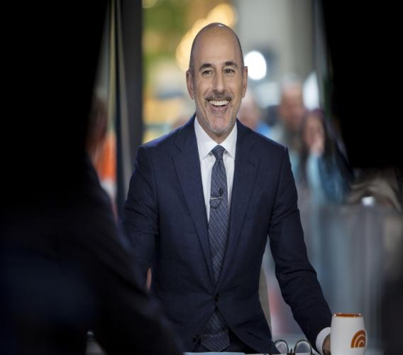 """This Nov. 16, 2017 photo released by NBC shows Matt Lauer during a broadcast of the """"Today,"""" show in New York."""