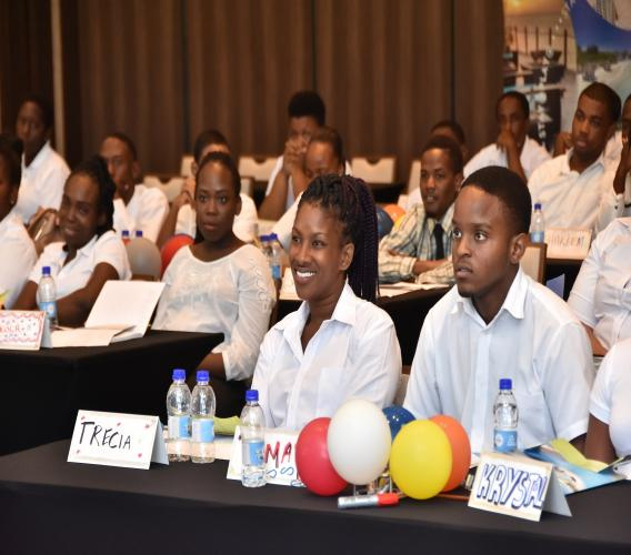 Some of the new faces at Sandals Barbados listen attentively to the presentations made by senior managers during the three day orientation.