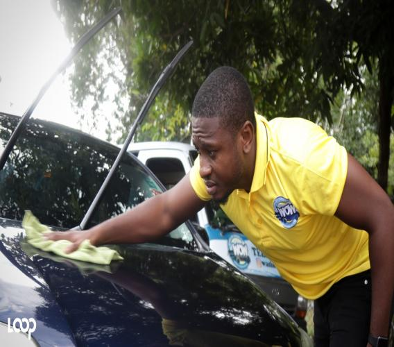 Jago Brown Brown is steadfast on seeing his mobile car-cleaning service take off.