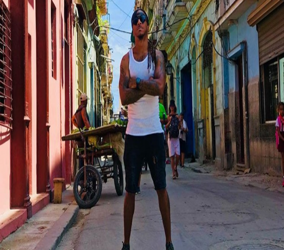 Kerwin Dubois in Cuba where he filmed SCRIPD, a show featuring four other soca artists.