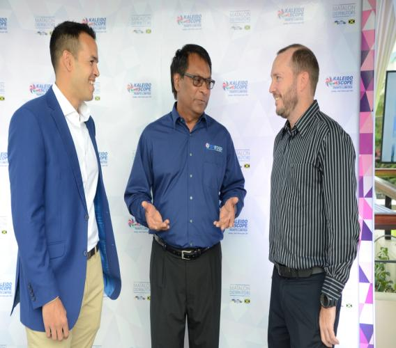 From left to right: Andrew Matalon, CEO of Matalon Distributors, Mahindra Devasingh, Export Manager of KPL Group Ltd and Michael Rosen, Sales Manager at Tankweld at the official launch for KPL's re-entry into Jamaica.