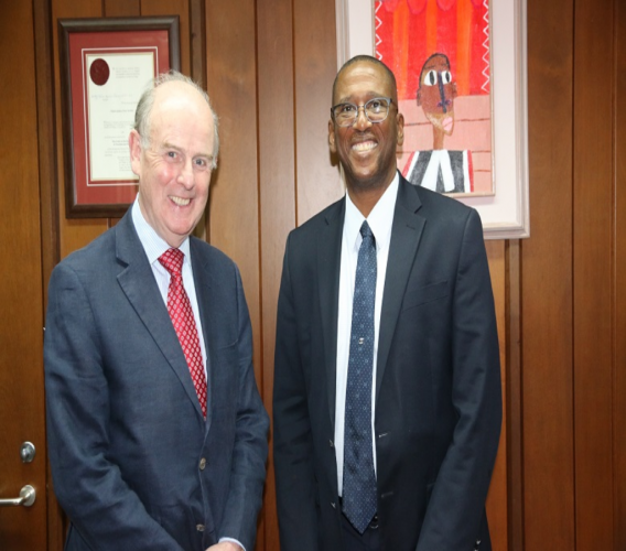 Retired High Court Judge, Sir Anthony Hart; Chief Justice Ivor Archie (right)