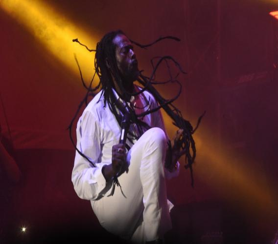 Buju Banton performing during the Long Walk to Freedom concert in Kingston. (PHOTO: Marlon Reid)