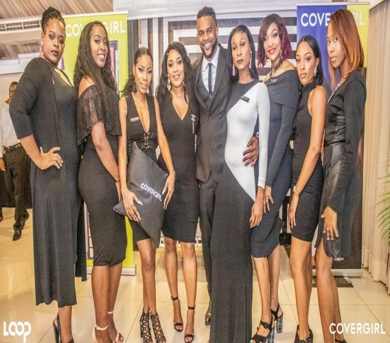 The beautiful Covergirl Jamaica team