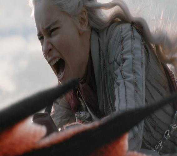 """This image released by HBO shows Mother of Dragons Daenerys Targaryen  (Emilia Clarke) in a scene from """"Game of Thrones"""". (Helen Sloan/HBO via AP)"""
