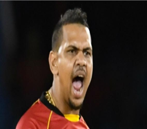 West Indies spinner Sunil Narine.