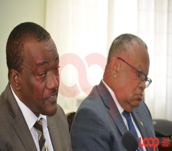 (L-R) Health Minister Lt. Col. Jeffrey Bostic and Foreign Affairs Minister Senator Jerome Walcott