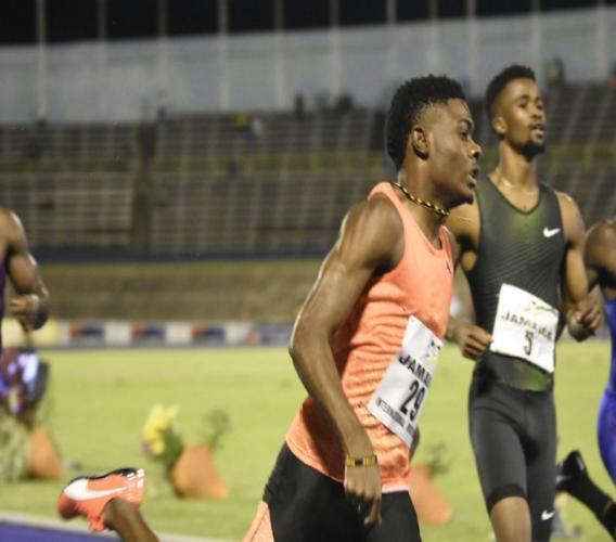 Young Jamaican sprinter Christopher Taylor.