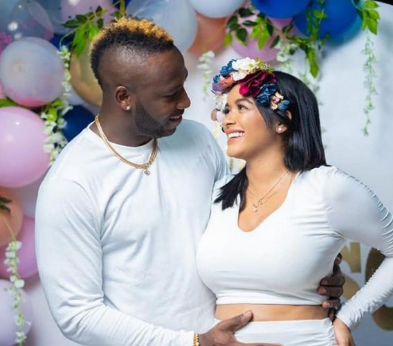 Andre Russell and wife Jassym Lora.
