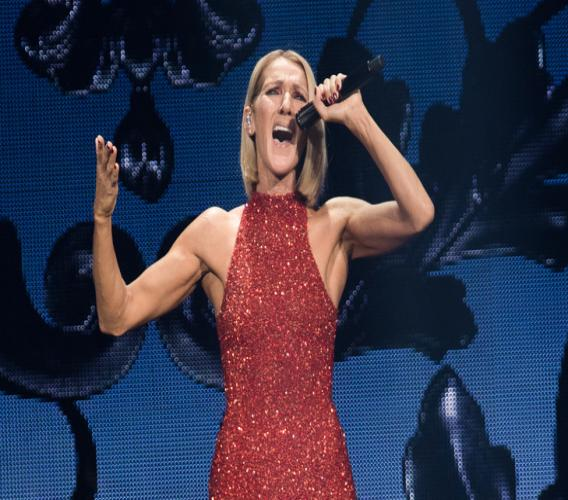 """Canadian singer Celine Dion performs on the opening night of her new world tour """"Courage"""" at the Videotron Centre in Quebec City, Quebec, on September 18, 2019. afp.com - Alice Chiche"""