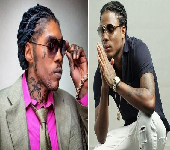 Vybz Kartel (left) and Masicka