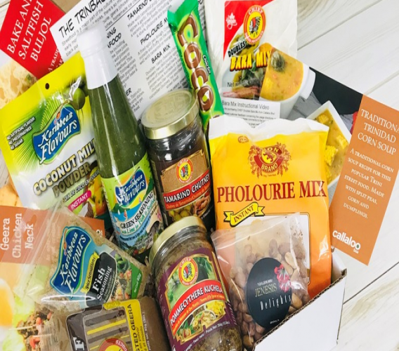 The Callaloo Box Trinbago Street Food Box. Photo courtesy Callaloo Box